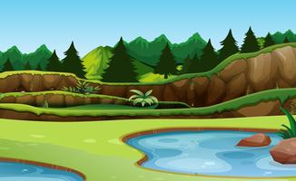 Beautiful green nature background vector