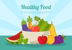 Healthy Food Bowl with text