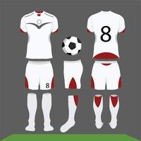 Kit de fútbol de diseño vectorial, plantilla de camiseta.