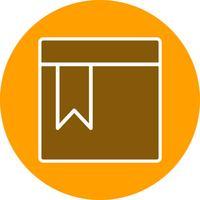 Icono de página marcada vector
