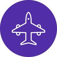 Vektor-Flugzeug-Symbol