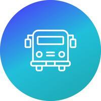 Vector School bus Icon