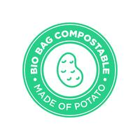Bio Bag Compostable made of potato.