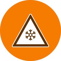 Rischio di vettore di ghiaccio Road Sign Icon