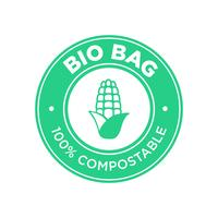Bio Bag 100% Compostable à base de maïs.