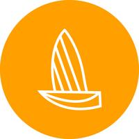 Icona dell'yacht di vettore