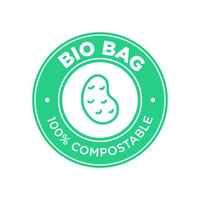 Bio Bag 100% Compostable made of potato.