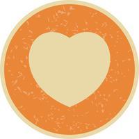 Illustration de coeur icône vectorielle
