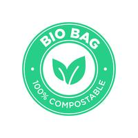 sac bio 100% compostable.