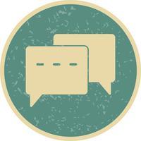 Vector conversatie pictogram