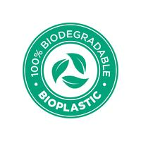 Bioplastic. 100% Biodegradable icon.