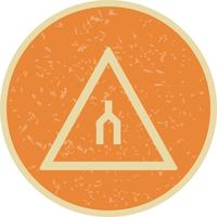 Vector Dual carriageway ends Road Sign Icon