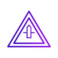 Icône de signe de route transversale mineure de vecteur