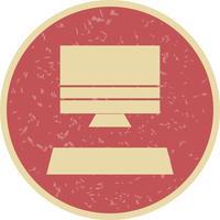 Computer-Symbol-Vektor-Illustration