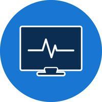 Vector icono de ECG