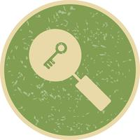 Vector icono de búsqueda de palabras clave