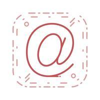 Vektor-E-Mail-Adresse-Symbol