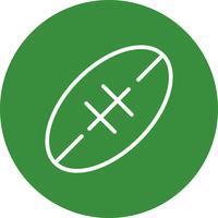 Icono de Rugby Vector Illustration