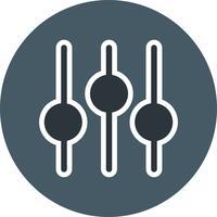 Icono de ajuste de ilustración vectorial