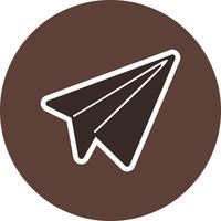 Icono de papel plano ilustración vectorial