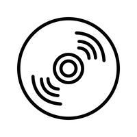 Compact Disk-Ikonen-Vektor-Illustration