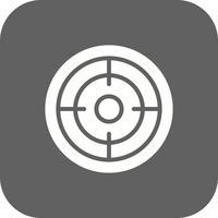 Ziel-Symbol-Vektor-Illustration