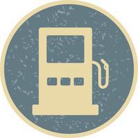 Ícone de sinal de estrada de posto de gasolina de vetor