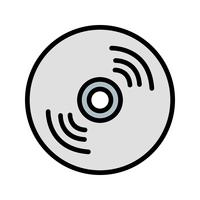 Compact Disk Icon Vector Illustration
