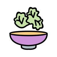 Icona di insalata vettoriale