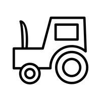 Icona del trattore vettoriale