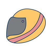 Icono de casco de carreras ilustración vectorial