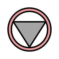 Distância do vetor para parar o ícone de sinal de estrada