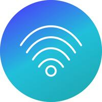 Icona di vettore Wi-Fi