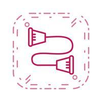 illustrazione di vettore dell'icona di strandpulling