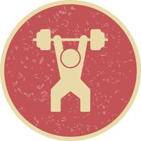 Weightlifting Icon Vector Illustration