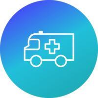 Icono de vector de ambulancia