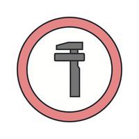 Vettore analizza l'icona del segnale stradale di servizio