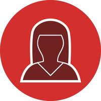 Avatar féminin icône illustration vectorielle