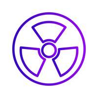Vector Radio icono de señal de tráfico activa