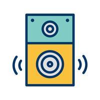 Lautsprecher-Symbol-Vektor-Illustration