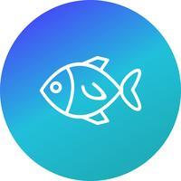 Ícone de peixe de vetor