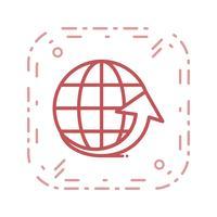 Vector Around the World Icon