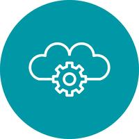 Vektor Cloud Settings Icon