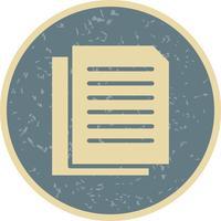 Ícone de documentos de vetor