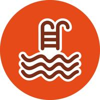Swimming Pool Icon Vector Illustration