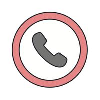 Vector Telephone Road Sign Icon
