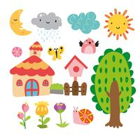 garden vector collection design