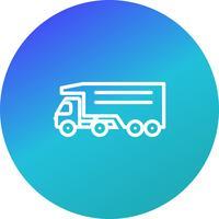 Icona di vettore Tipper Truck