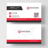 Red shape visit card vector