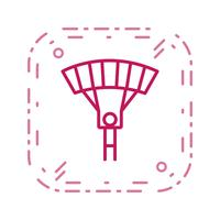 Parachutist pictogram vectorillustratie